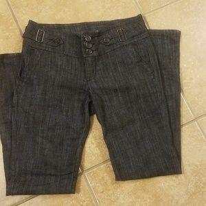 Dark blue boot cut jeans